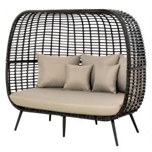 Maze Rattan Riviera Garden Furniture Brown 3 Seater Sofa