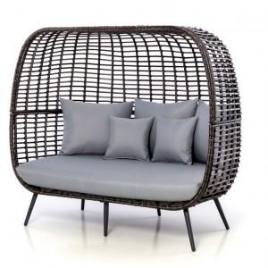 Maze Rattan Riviera Garden Furniture Grey 3 Seater Sofa