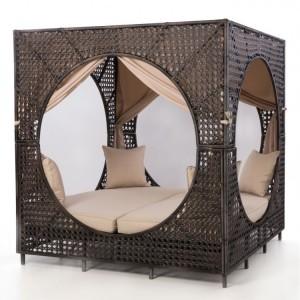 Maze Rattan Bali Garden Furniture Brown Daybed