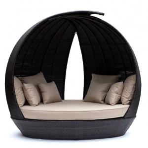 Maze Rattan Lotus Garden Furniture Brown Daybed