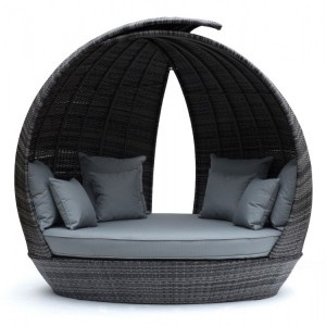 Maze Rattan Lotus Garden Furniture Grey Daybed