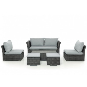 Maze Rattan Garden Furniture Seville Grey Sofa Set