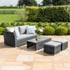 Maze Rattan Garden Furniture Seville Grey Sofa Set