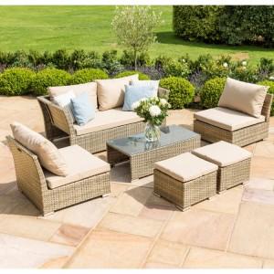 Maze Rattan Tuscany Garden Furniture Seville Sofa Set