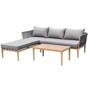 Maze Rattan Palma Garden Furniture 3 Seat Chaise Sofa Set
