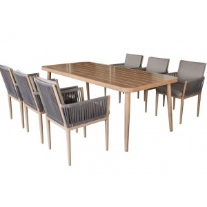 Maze Rattan Palma Garden Furniture 6 Seat Dining Set