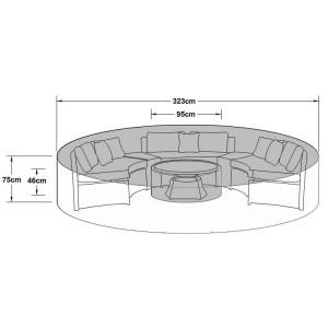 Maze Rattan Outdoor Furniture Cover for Half Moon Set - PRE ORDER