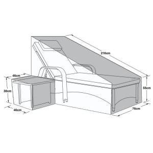 Maze Rattan Outdoor Furniture Cover for Florida Lounger Set