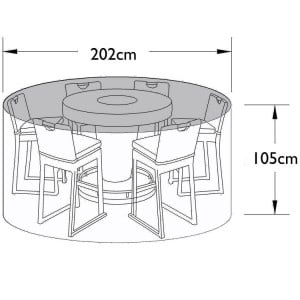 Maze Rattan Outdoor Furniture Cover for 6 Seat Bar Set