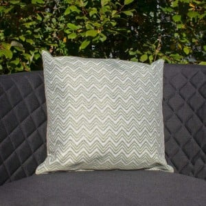 Maze Lounge Outdoor Fabric Scatter Cushion in Polines Green Pair