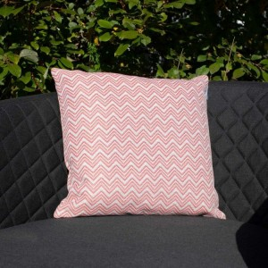 Maze Lounge Outdoor Fabric Scatter Cushion in Polines Red Pair