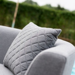 Maze Lounge Outdoor Fabric Scatter Cushion Quilted in Flanelle Pair