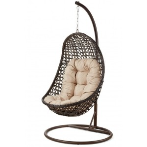 Maze Rattan Malibu Garden Brown Hanging Chair