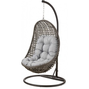 Maze Rattan Malibu Garden Grey Hanging Chair
