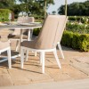 Maze Fabric Garden Furniture Pacific Taupe 6 Seat Round Dining Set