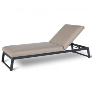 Maze Fabric Garden Furniture Allure Taupe Sunlounger