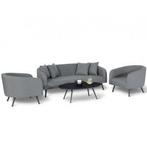 Maze Fabric Garden Furniture Ambition Flanelle 3 Seat Sofa Set