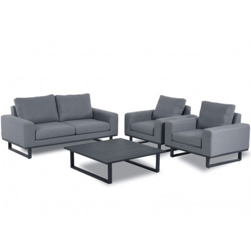 Maze Fabric Garden Furniture Ethos Flanelle 2 Seat Sofa Set