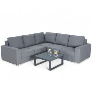 Maze Fabric Garden Furniture Zen Grey Corner Group