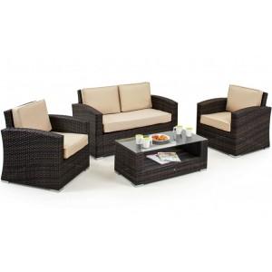 Maze Rattan Kingston Garden Brown 2 Seat Sofa Set