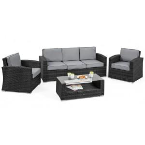 Maze Rattan Kingston Garden Grey 3 Seat Sofa Set