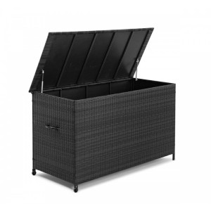 Maze Rattan Garden Furniture Grey Storage Box