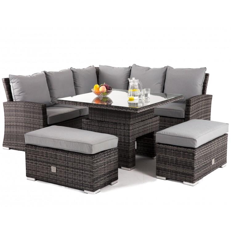 Fabulous Maze Rattan Richmond Garden Grey Corner Bench Set With Cjindustries Chair Design For Home Cjindustriesco