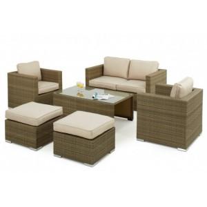 Maze Rattan Tuscany Garden 6 Piece 2 Seater Sofa Set