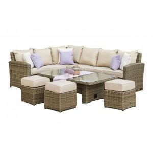 Enjoyable Rattan Corner Lounge And Sofa Sets Rattan Garden Furniture Inzonedesignstudio Interior Chair Design Inzonedesignstudiocom
