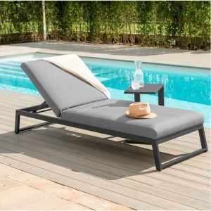 Maze Fabric Garden Furniture Allure Flanelle Sunlounger