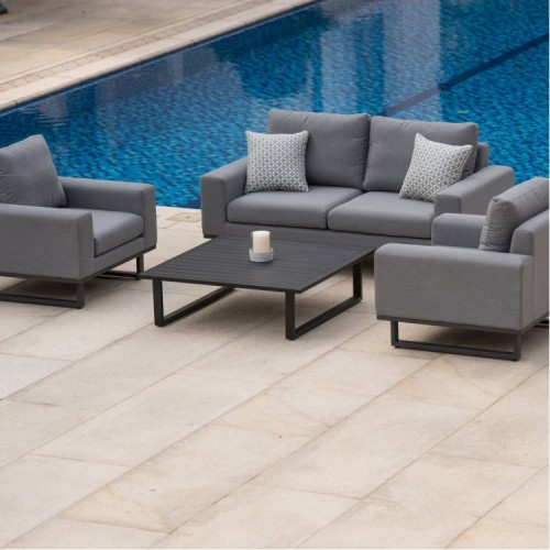 Maze Fabric Garden Furniture Ethos Flanelle 2 Seat Sofa Set
