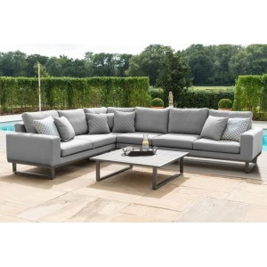 Maze Fabric Garden Furniture Ethos Flanelle Large Corner Group