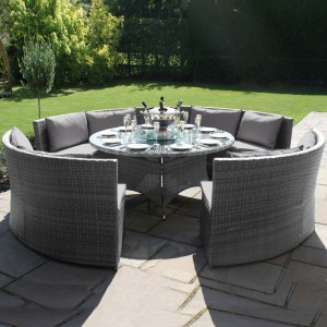 Maze Rattan Garden Furniture Dallas Sofa Set Grey