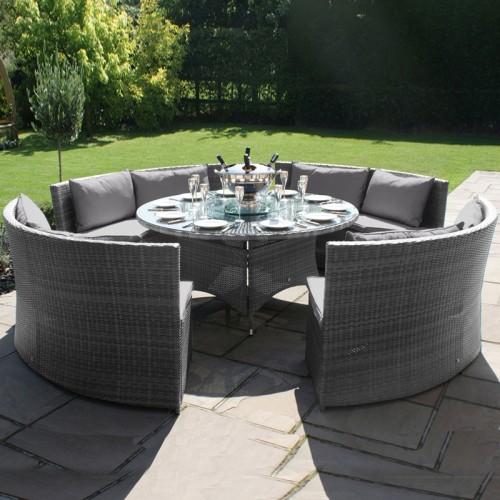 Maze Rattan Garden Furniture Dallas Sofa Set in Grey - PRE ORDER
