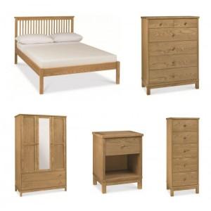 Atlanta Oak Furniture Bedroom Set with Low Foot End Bed