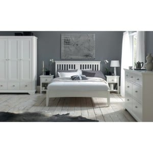 Hampstead White Painted Furniture Double 4ft6 Bedroom Set