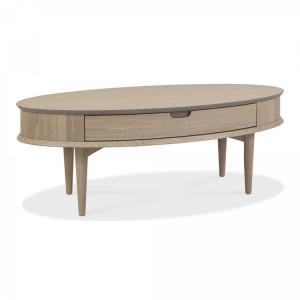 Bentley Designs Dansk Oak Coffee Table with Drawer