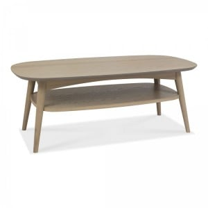 Bentley Designs Dansk Oak Coffee Table with Shelf