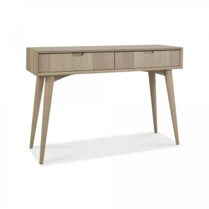 Bentley Designs Dansk Oak Console Table with Drawers
