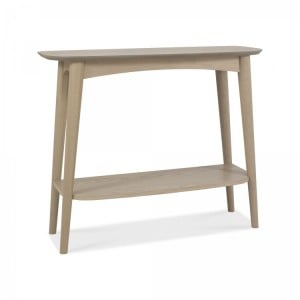 Bentley Designs Dansk Oak Console Table with Shelf