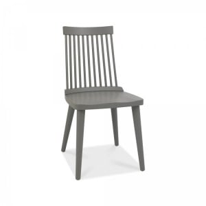 Bentley Designs Dansk Oak Ilva Spindle Dark Grey Dining Chair (Pair)