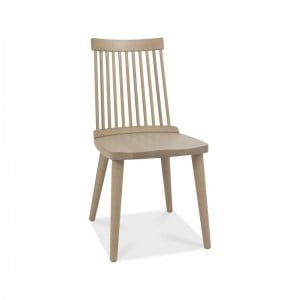 Bentley Designs Dansk Oak Ilva Spindle Scandi Oak Dining Chair (Pair)