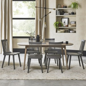 Bentley Designs Dansk Oak Furniture 4-6 Seat Dining Table & Ilva Chairs Set