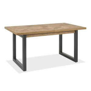 Bentley Designs Indus Oak Furniture 4-6 Extension Dining Table