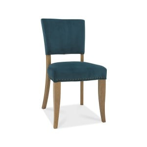 Bentley Designs Indus Oak Furniture Upholstered Green Velvet Chair (Pair)