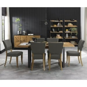 Bentley Designs Indus Oak Furniture 6-8 Extending Dining Set - PRE ORDER