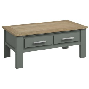 Bentley Designs Oakham Grey Painted & Oak Coffee Table