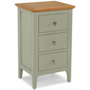 Berlin Painted & Oak Furniture 3 Drawer Bedside Cabinet