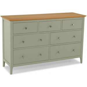 Berlin Painted & Oak Furniture 7 Drawer Chest