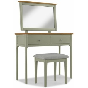 Berlin Painted & Oak Furniture Dressing Table Set